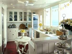 love this kitchen.  the window will look out at the oceanCottages Style, Cottages Kitchens, Country Cottages, Kitchens Design, Coastal Cottages, Beach Cottages, Kitchens Ideas, Cottages Decor, White Kitchens