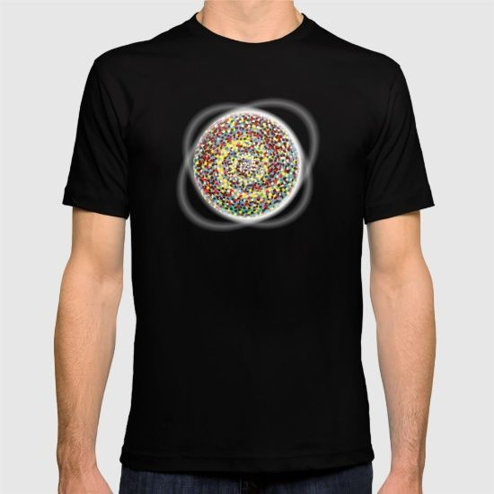 'Gravity' tee design @society6  #tshirt #arte #society6 #handpainted #acrylic #gravity #space #magneticwaves #theory #paintings #art #artists #connections #reactions #universe #circle #roundandround #dizzy #rotate