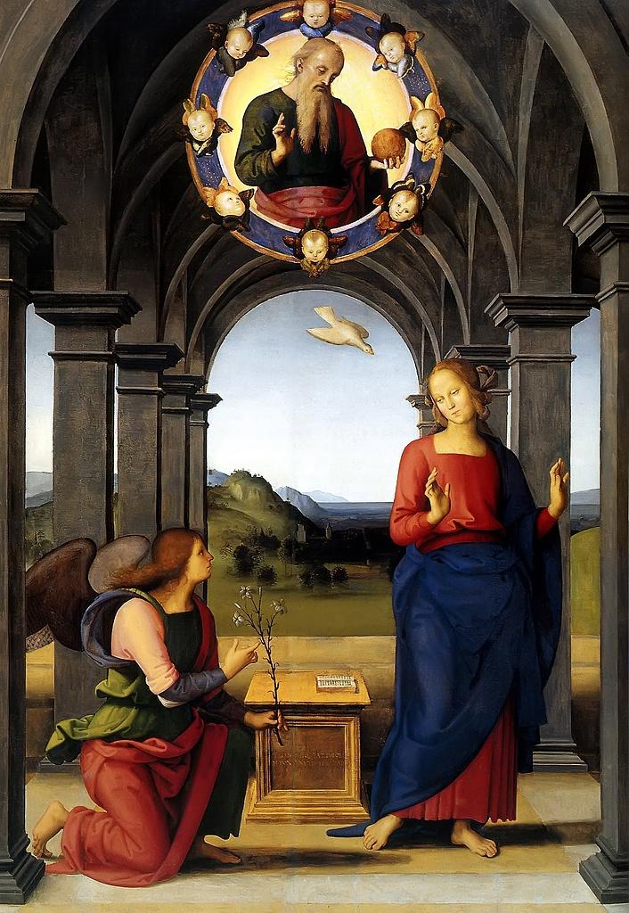 Annunciation - Pietro Perugino - 1499