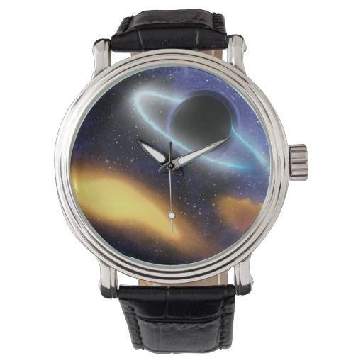 Black hole PIA01884 wrist watch