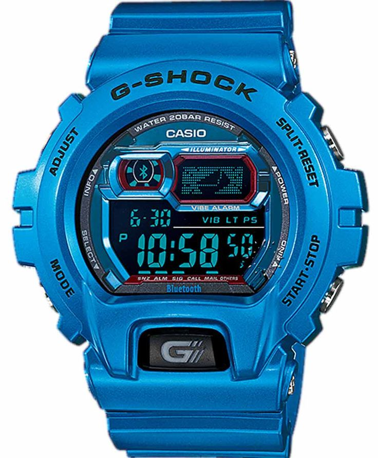 CASIO G-Shock XL Bluetooth Limited Edition Blue Rubber Strap http://www.oroloi.gr/product_info.php?products_id=36876