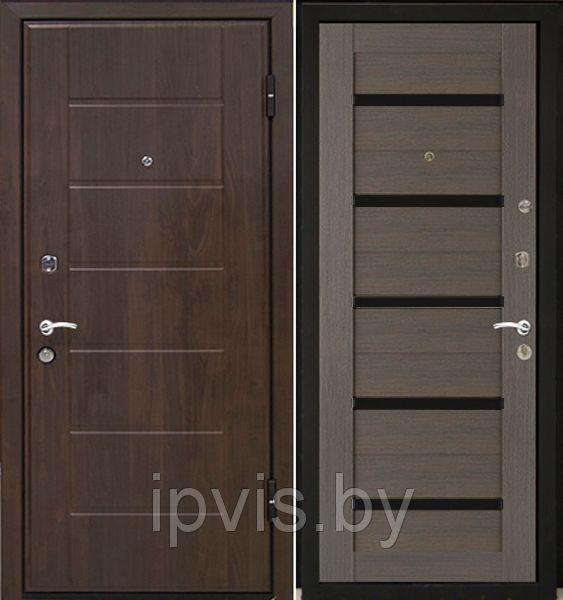 Двери МеталЮр М7 черное стекло в г. Гомель. Отзывы. Цена. Купить. Фото. Характеристики.