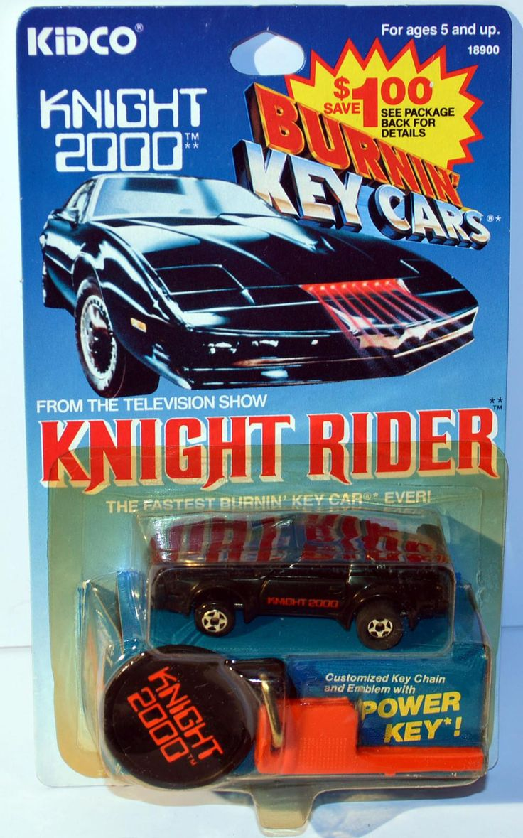 Claasic vintage toys vintage toys second shout out http www - 1983 Knight Rider Knight 2000 Burnin Key Car By Kidco 1980s Toysretro