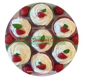 Basil and Strawberry Cupcakes are lovely to make in the summer months. Adding the basil to the strawberry gives an extra twist.