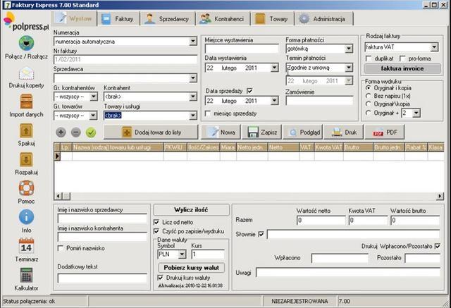 Faktury Express 7. Krótka prezentacja wideo. Podstawowe funkcje programu do wystawiania faktur.