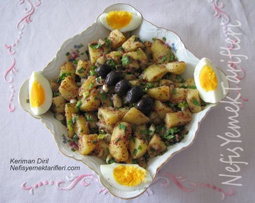Patates Salatası Tarifi nasıl yapılır? 5.898 kişinin defterindeki Patates Salatası Tarifi'nin resimli anlatımı ve deneyenlerin fotoğrafları burada. Yazar: Keriman Diril