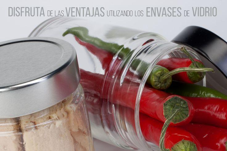 No hay nada como un #tarro de #vidrio para almacenar tus conservas. El vidrio es inerte, higiénico y no mezcla sabores ni olores. Por lo que garantiza la calidad original de tu conserva.