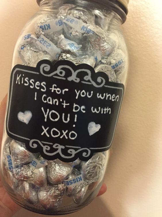 Kisses in a jar gift for boyfriend