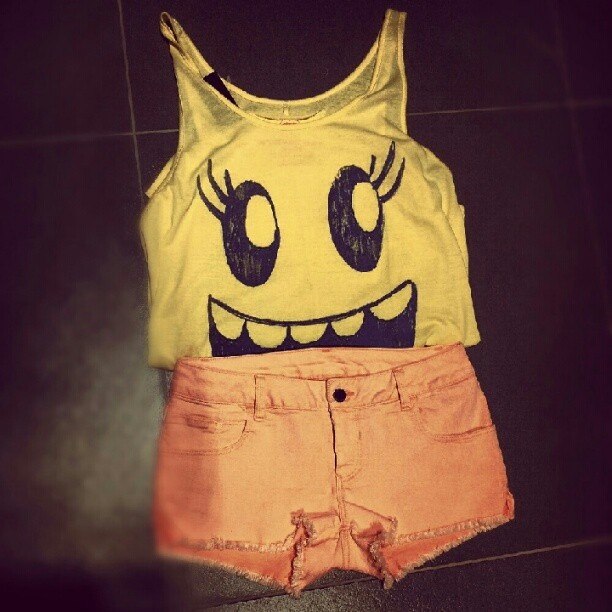 Your #smile is your #power!!! #alcott #top #shorts