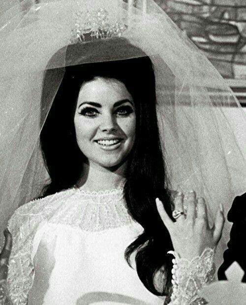 The wedding of Elvis and Priscilla Presley. 1/5/1967.