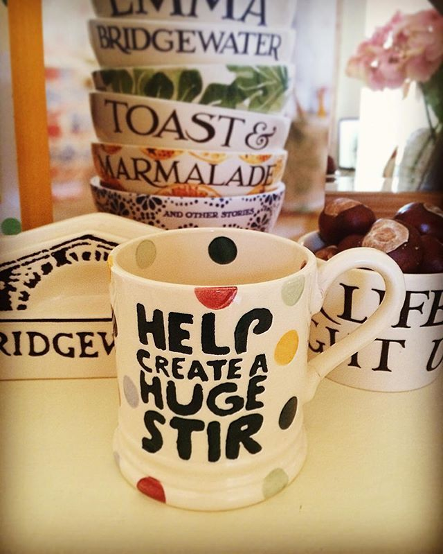 Help create a Huge Stir! Mac Millan Cancer Support! Coffee morning! I'm donating my tips from work this week! #emmabridgewater #love #macmillan #macmillancancer #macmillancoffeemorning #cake