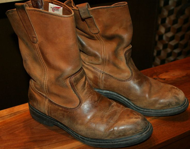 Vintage Red Wing Pecos Pull-On Leather Boots-Men's 10.5 motorcycle biker riding #RedWing #Motorcycle
