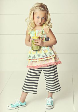 In the Meadow Knot Top & Smooth Sailing straightees - Matilda Jane Hello Lovely