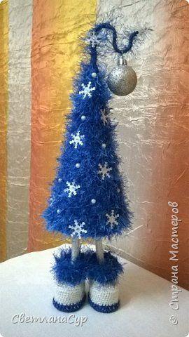 Бонсай топиарий ёлка Новый год Бисероплетение Вязание крючком Елки разные важны елки разные нужны Бисер Бусины Картон Пряжа фото 1