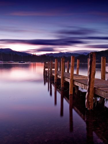 A Lake District sunset: http://www.roomforromance.com/romantic-hotels/united-kingdom/lake-district/linthwaite-house/