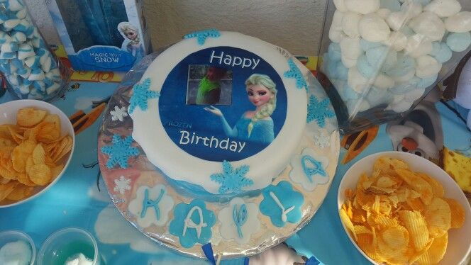 #FROZEN, Birthday cake