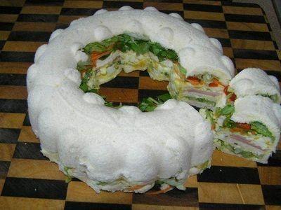 13 best tupperware jello ring mold images on pinterest for Club sandwich fillings for high tea