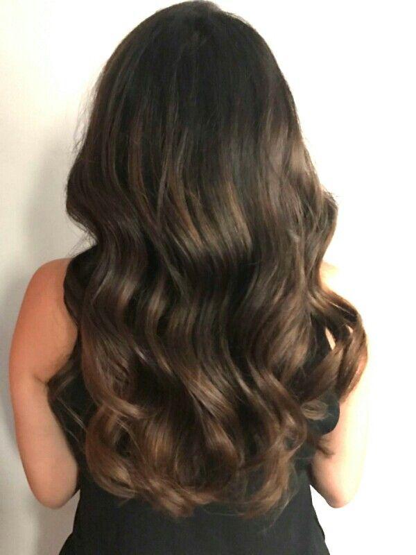 #babylights y #balayage cabello castaño