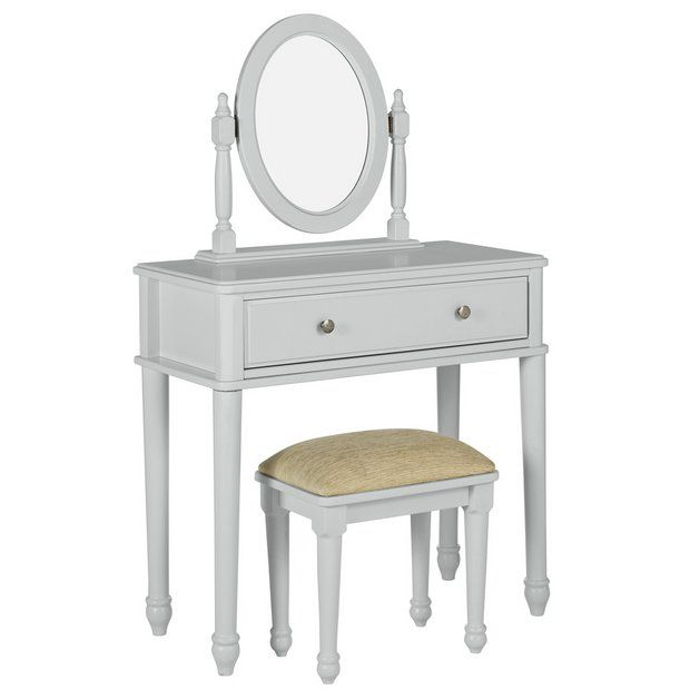 Buy Argos Home Ashbourne Soft Grey Dressing Table At Argos Thousands Of Products For Same Day Delivery 3 95 Or Fast Store Collection