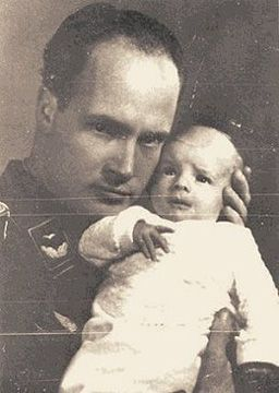 Dr. Sigmund Rascher with his illegally adopted child-Dr. Alexander's report on the Prolonged Exposure to Cold evaluated the Nazi hypothermia experiments conducted by Dr. Rascher at Dachau; he found inconsistencies in Dr. Rascher's lab notes which led him to believe that Dr. Rascher had deceived Himmler about his results. According to Dr. Alexander, Rascher reported to Himmler that it took from 53 minutes to 100 minutes for the prisoners to die in the freezing water.