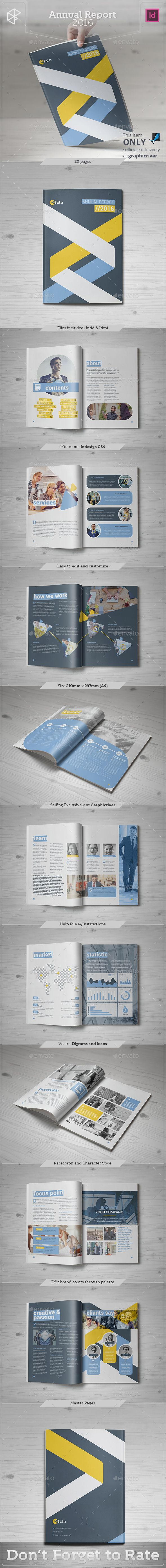 Annual Report 2016 Template InDesign INDD #design Download: http://graphicriver.net/item/annual-report-2016/14054037?ref=ksioks