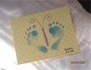 Babies Scrapbook Idea - Bing Images....footies butterfly
