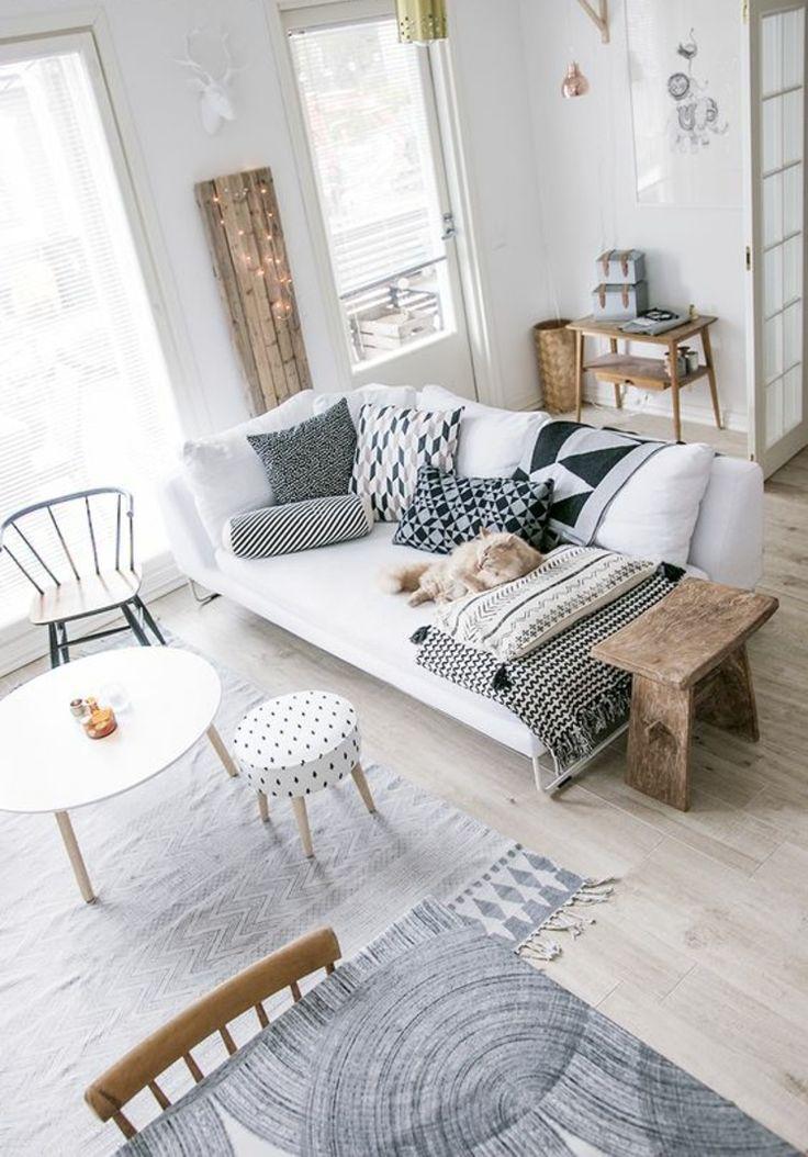 Die besten 25+ helle Wohnzimmer Ideen auf Pinterest Buntes - haus einrichten moebel helle farben