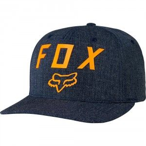 Fox Gorra Number 2 Flexfit Cap - Heather Midnight