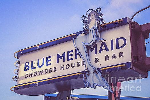 Blue Mermaid restaurant sign by Claudia M Photography