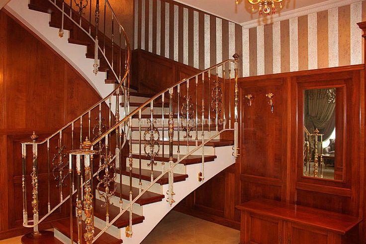 Латунное ограждение лестницы - «Mercury Forge» #stairs #decor #home #grandeforge #royal #mercuryforge #лестницы #ограждения #роял #москва #дом #интерьер