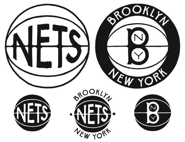 Jon Contino's version of the Brooklyn Nets' logos