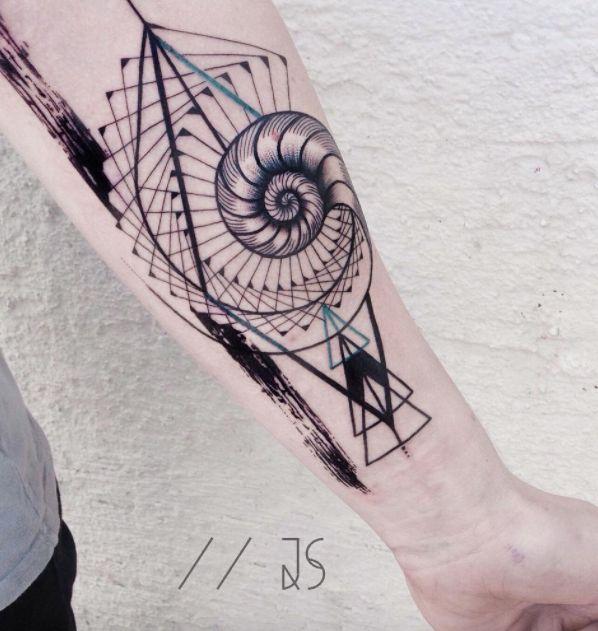Abstract Nautilus Tattoo