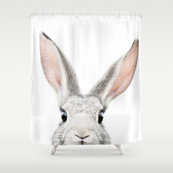 Buy Hello Bunny Shower Curtain By Katypie Worldwide Shipping