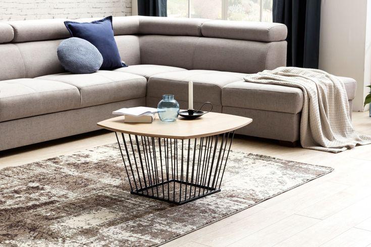 Wohnling Couchtisch Im Skandinavischen Einrichtungsstil WL5.226 Eiche  #Wohnzimmer #Dekoration #Metall #