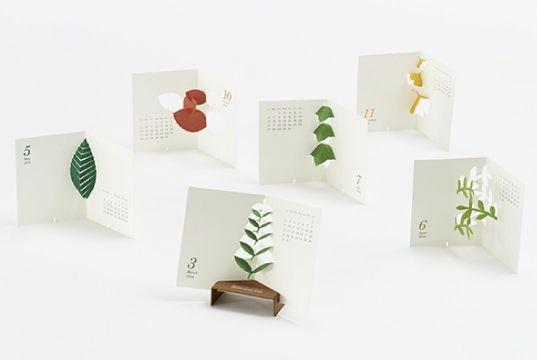 good morning.inc/ good morning ink original calendar 2014 Botanical Life / botanical life plants paper craft calendar