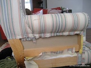 HOW TO REUPHOLSTER A WINGBACK CHAIR: PART 1 (PICTURE TUTORIAL)