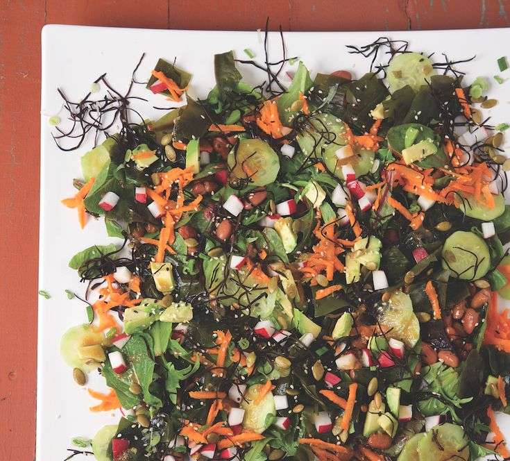 Sea Vegetable Salad with Sesame Dressing