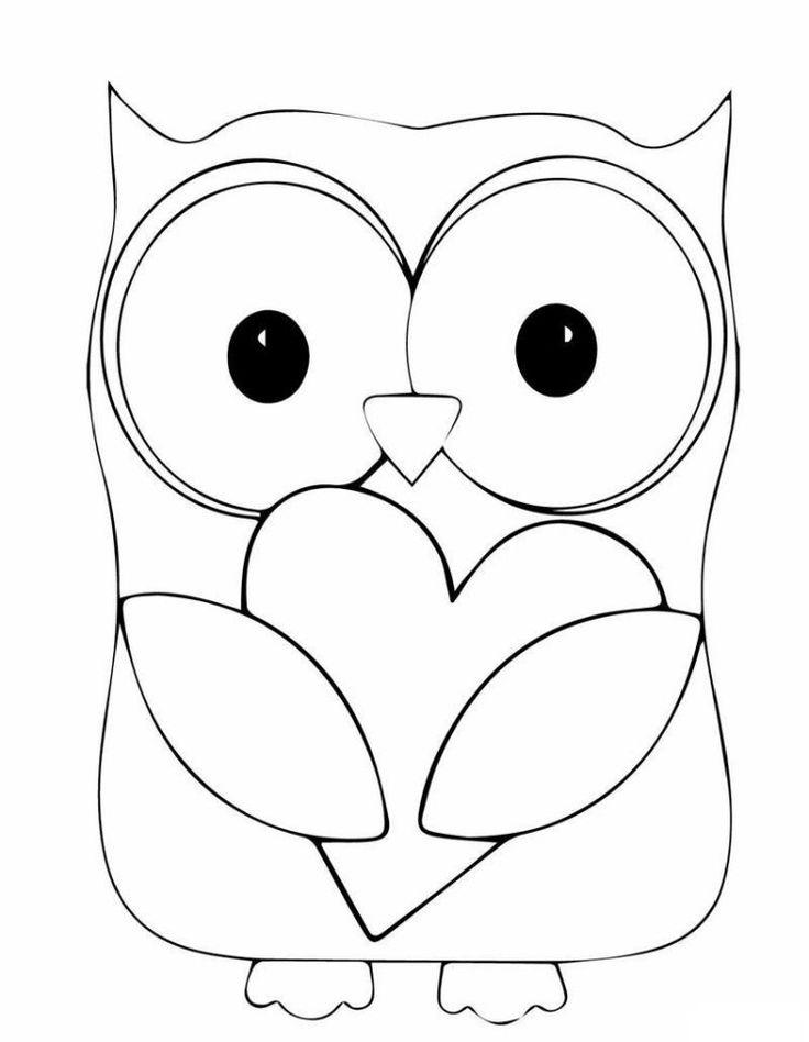 dessin hibou à imprimer et colorer: modèle enfants 3 ans