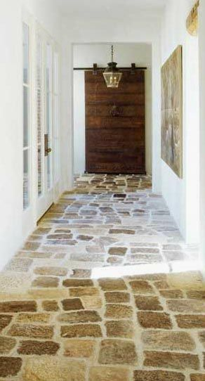 Stone floor. I kinda want flooring like this is in my future kitchen