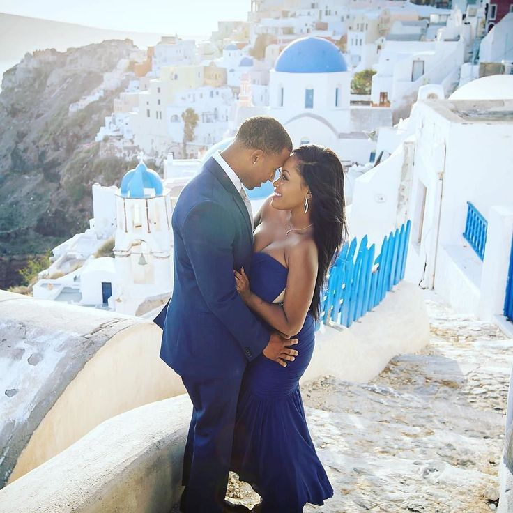 When in Greece . Beautiful engagement photo.