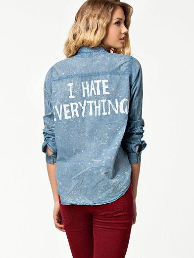 Attitude Shirt - Sally&Circle - Sininen - Paitapuserot & Kauluspaidat - Vaatteet - Nainen - Nelly.com