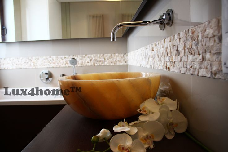 Stone vesselsink Gemma 501. Collection Lux4home™ 2015. 4 diffrent sizes, made of onyx. We produce stonesinks like this and we are looking for interior architects & bathshops to cooperation...
