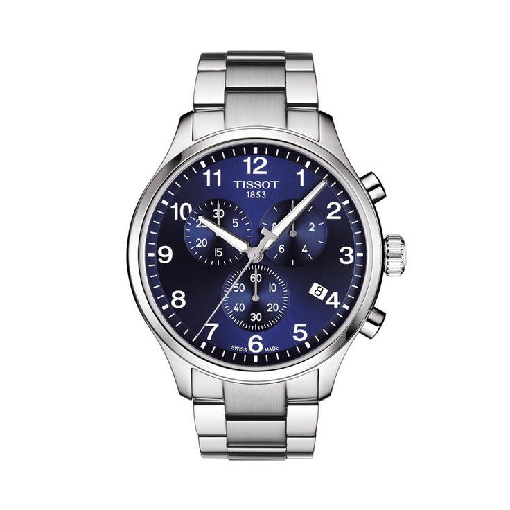 Ανδρικό ελβετικό quartz ρολόι του οίκου TISSOT, από τη συλλογή T-SPORT, μοντέλο CHRONO XL CLASSIC T116.617.11.047.01 Ένα σπορ ρολόι μπλε χρονογράφος με ημερομηνία & μπρασελέ. Ανδρικό ρολόι TISSOT CHRONO XL CLASSIC T1166171104701 με μπρασελέ, χρονογράφος με μπλε καντράν | Ρολόγια TISSOT στο Χαλάνδρι ΤΣΑΛΔΑΡΗΣ #tissot #chronoxlclassic