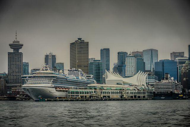 Princess Cruises - Diamond Princess docked at Canada Place Vancouver BC Canada   Flickr - Photo Sharing!