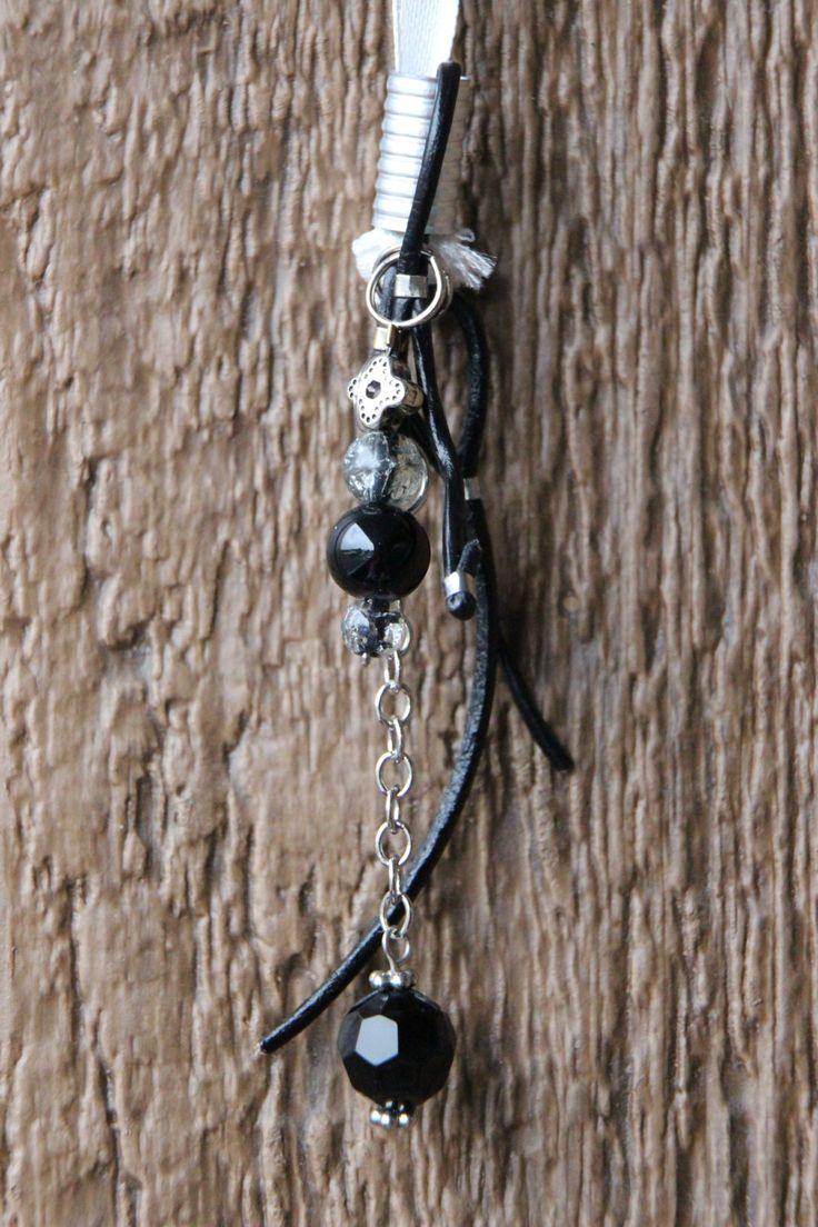 Dreads Bijoux Hippie Recyclé argent perle de plastique noir métal fil cuir véritable attache perle argent fait main Québec de la boutique DreadsQuebec sur Etsy