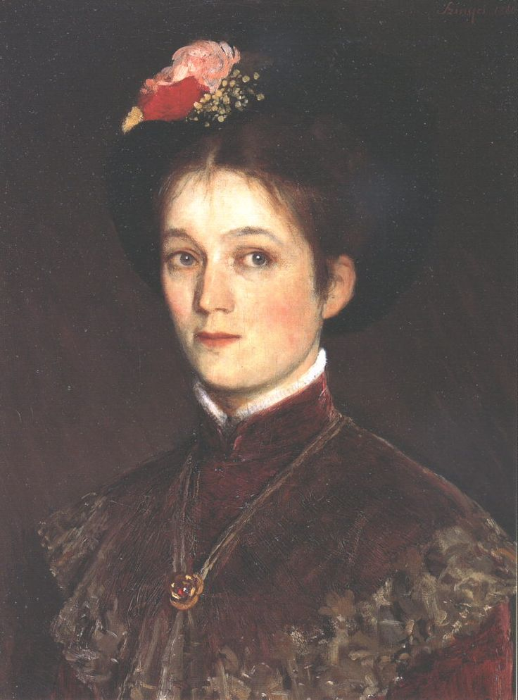 Portrait of the Artists Wife by Pál Szinyei Merse