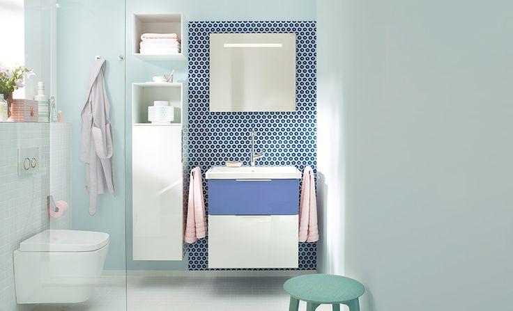 #Burgbad #Eqio #meuble #salledebain #blue