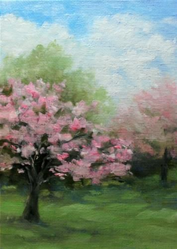 """Daily Paintworks - """"Springs Pastels"""" - Original Fine Art for Sale - © Jean Nelson"""