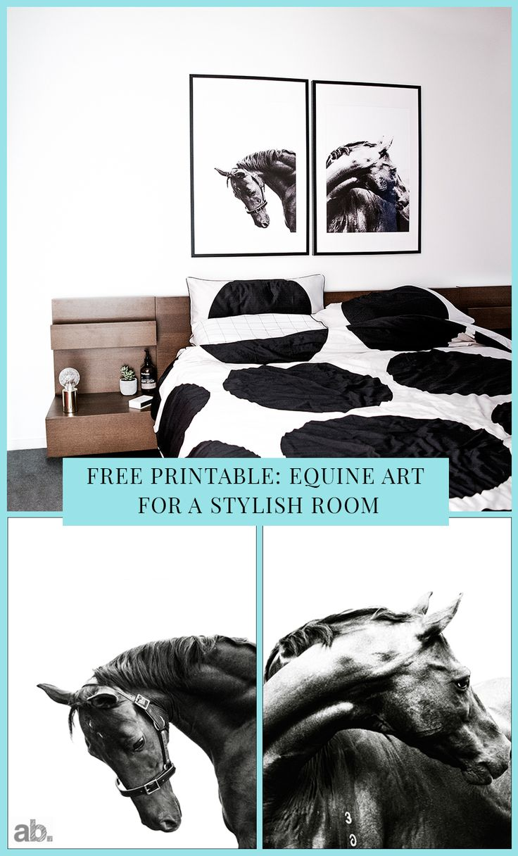 There is a strong interior trend towards all that is equine at the moment. I love horses so any excuse to introduce them into my home is an absolute delight for me. I don't want you to miss out either. As a result, this post includes some free equine wall art that you can print, frame and hang in your own home. Full instructions on the blog m:-)