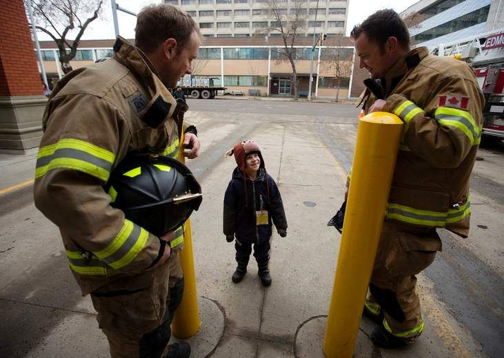 """On Sunday afternoon, the first responders on top of Fire Station 2 were $10,000 short of the $350,000 goal. The camp-out at 10217 107 St. started on Tuesday at 10 a.m. and was planned to end on Friday, but firefighters have """"refused"""" to come down until they meet their goal for Muscular Dystrophy Canada.  """"You can call it stubborn,"""" Lt. Courtney Polson said with a laugh. """"We made a goal and we're hoping to reach it."""